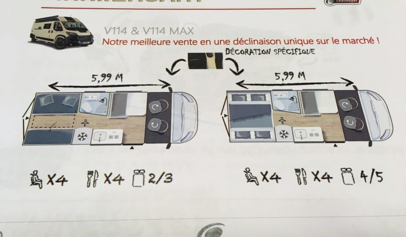 CHALLENGER VANY 114 MAX ANNIVERSARY 4 COUCHAGES Fourgon / Van 2020 complet